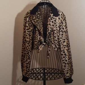 Vintage leapard top